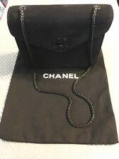 Authentic CHANEL Black Suede Evening Bag EXCELLENT