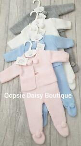Babys Stunning Blue Spanish Pom Pom Knitted 3 piece Sets  ☆