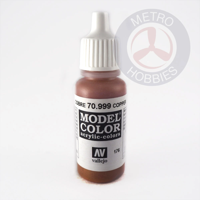 Vallejo 70999 Modelcolor Copper 17ml Paint (176) Brand New