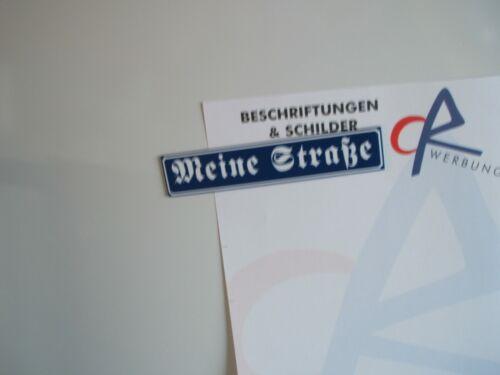 Straßenschild Kühlschrank-Magnet mit Wunschtext 15 x 3 cm