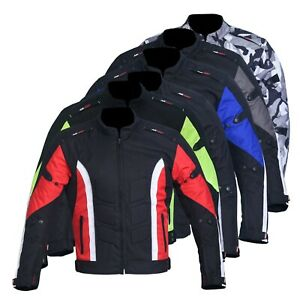 Men-039-s-Motorbike-Motorcycle-Jacket-Waterproof-Textile-Biker-CE-Armoured-Cordura