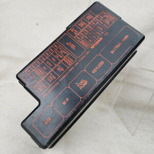 1999 nissan pathfinder under hood fuse relay box cover lid black | ebay  ebay
