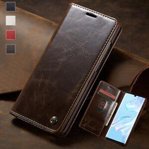 Pour-Samsung-Galaxy-A20-A30-A40-A50-A70-Magnetique-etui-Portefeuille-en-cuir-flip-Cover