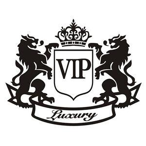 the lion vip luxury cartoon car sticker refective window