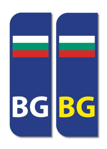 2 X BG Euro en autos de la placa de Bulgaria Pegatinas De Vinilo