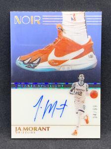 2019-20 Panini Noir JA MORANT Sneaker Spotlight Autograph Auto RC 4/99 Grizzlies
