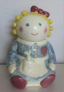 Treasure-Craft-USA-1980-039-s-Sugar-Rag-Doll-Cookie-Jar