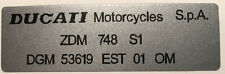 DUCATI 748 RIGHT SIDE FRAME RESTORATION DECAL