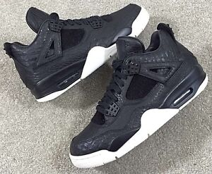 d44fc671a3b 2016 Nike Air jordan 4 Retro Premium SZ 8.5 Black Pinnacle Croc IV ...