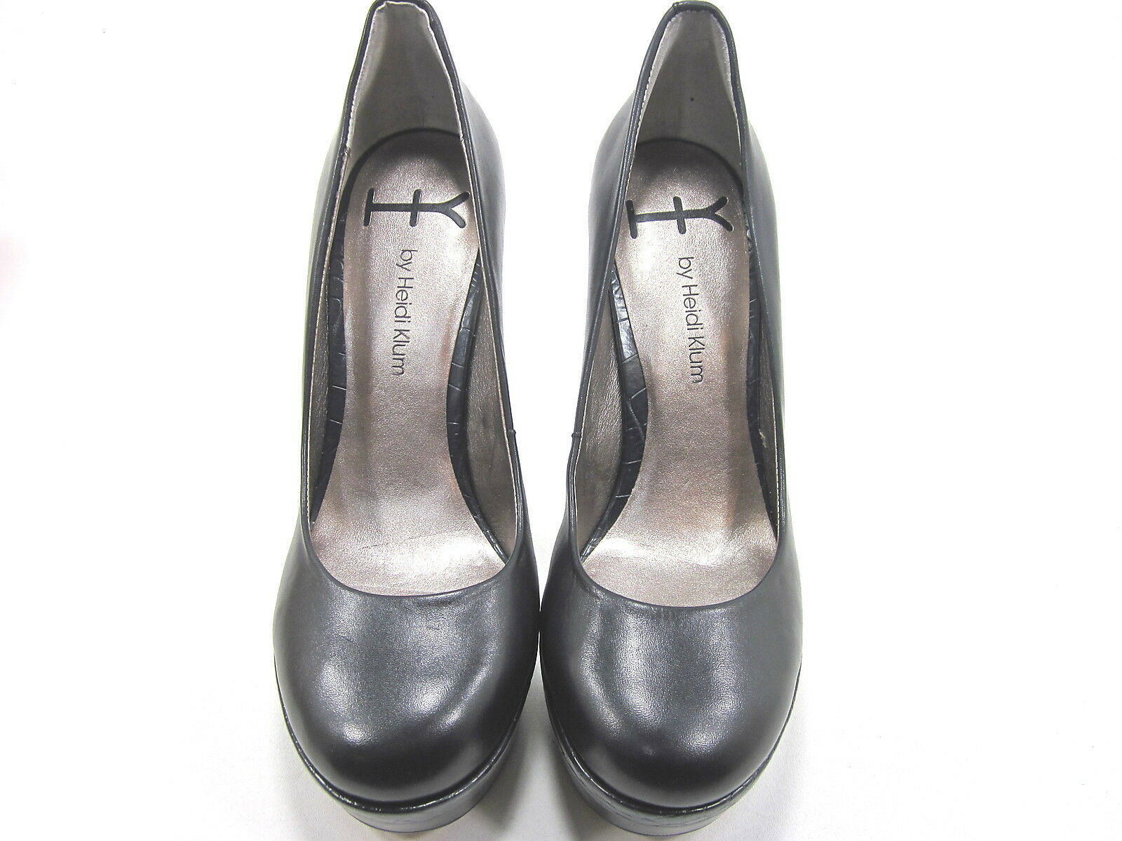 HK BY HEIDI KLUM, GEORGIA GEORGIA GEORGIA PLATFORM PUMP, Damenschuhe, BLACK, US 9.5M, NEW WITHOUT BOX d44538