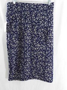 Women's Clothing Good Lularoe Cassie Size M Nwt Striped Bandana Print Red And Blue