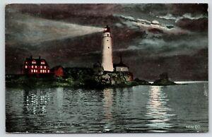 Boston-MA-Boston-Light-Lighthouse-Shines-Brighter-Than-The-Moon-Night-1913-PC
