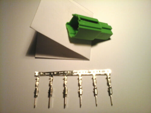 Mini conector ISO 6 polos contra trozo a verde c2 con 6 conectores plana micro Timer