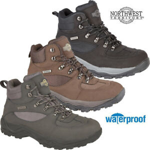 Regatta Mens Holcombe IEP Isotex Waterproof Faux Leather Mid Ankle Walking Boots