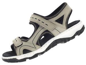 Details zu Rieker Damen Trekking Sandalen Outdoor Freizeit Schuhe Beige 68866 61