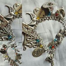 Harry Potter Horcrux Charm Bracelet. Slytherin Gryffindor Ravenclaw Hufflepuff