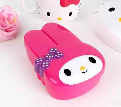 Kawaii Cute Sanrio My Melody Face Bento Lunch Box Food Storage Container