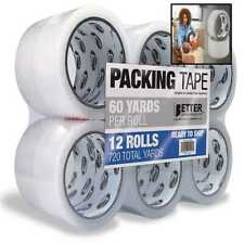 12 Pack Clear Packing Tape Refill Rolls Heavy Duty By Better Office Products 18