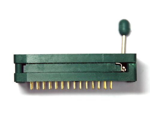 "1pc ZIP DIP IC Test Burn-In Socket 28P W=0.3/""~0.6/"" 7.62~15.25mm 228-6182 Textool"