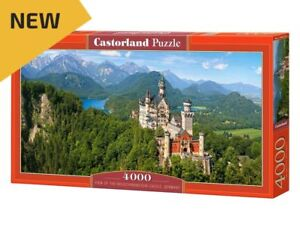 "Castorland Puzzle 4000 Pieces Neuschwanstein Castle 54""x27"" Sealed box C-400218"