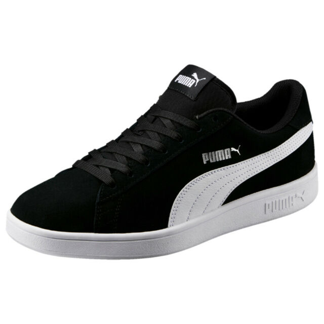New Puma Smash v2 Suede Athletic Shoes Running Sport Sneakers Black Smart Casual