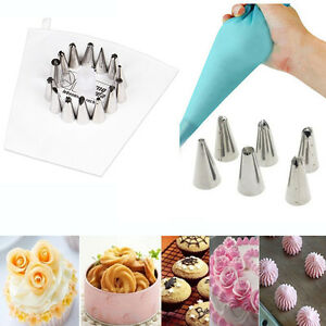 Cake Decorating Tips And Couplers : Cake Decorating Stainless Steel Nozzles Pastry Tips Piping ...