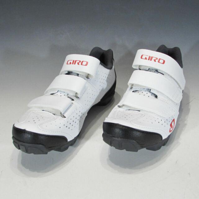 New Giro Women/'s Riela R MTB Mountain Bike Shoes 43 10.5 White Coral SPD Cycling