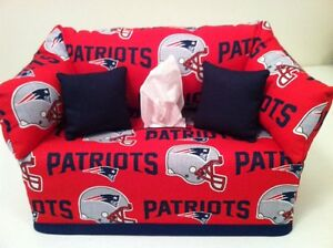 Image Is Loading Nfl New England Patriots Sofa Tissue Box Cover