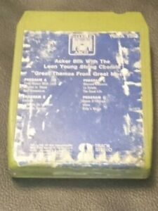 8-Track-Cassette-Cartridge-Eight-acker-bilk-Leon-young-great-themes-from-movies