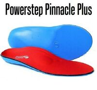 Powerstep Pinnacle Plus Arch Support Insole Metatarsal Pad Sized M 7-7.5 W 9-9.5
