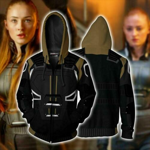 Newest X-Men Dark Phoenix Cosplay Costume Sweatshirt Hoodie Jacket warm Coat