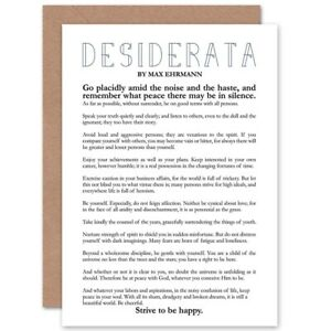 Desiderata-Poem-Max-Ehrmann-Birthday-Blank-Greeting-Card-With-Envelope
