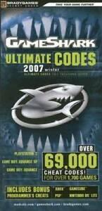 GameShark Ultimate Codes 2007 - Paperback By BradyGames - VERY GOOD