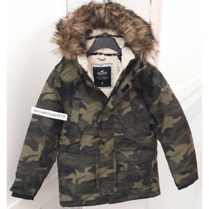 Details about HOLLISTER MENS ALL WEATHER SHERPA LINED PARKA JACKET COAT CAMO SIZE MEDIUM