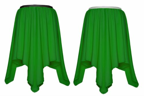 Womens Emerald Green Poison Ivy Petal Hankerchief Fancy Dress Dance Skirt