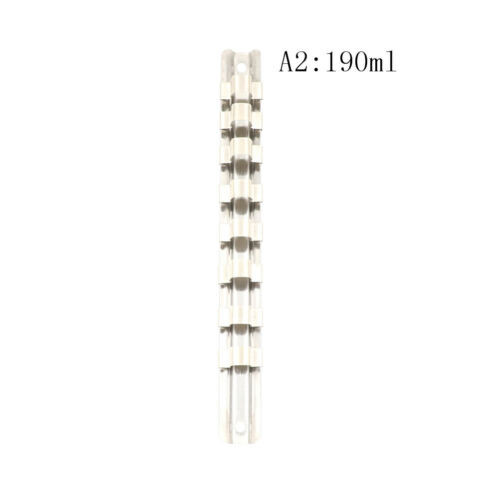 "Stainless Steel Socket Rack Holder 1//4/""3//8/""1//2/"" 8Clips Tool Organizer StorageD"