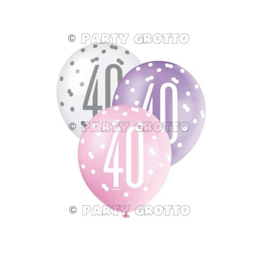 Pink 40th Birthday Party Decorations Supplies Ladies Balloons Banners Age 40