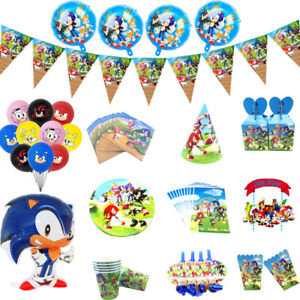 Sonic The Hedgehog Birthday Party Supplies Tableware Decor Plates Cups Balloons Ebay