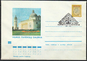 Soviet-Lithuania-1993-cover-Vilnius-Cathedral-Pope-John-Paul-II-visit-Church