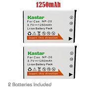 2x Kastar Battery for Casio NP-20 Exilim EX-M1 EX-M2 EX-M20 EX-S1 EX-S2 EX-S3