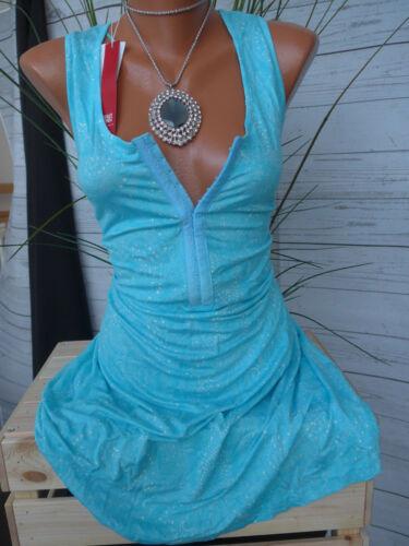 Sheego Long Bluse Tunika Kleid Shirt Gr 40-50 Blau weiß gemustert NEU 898