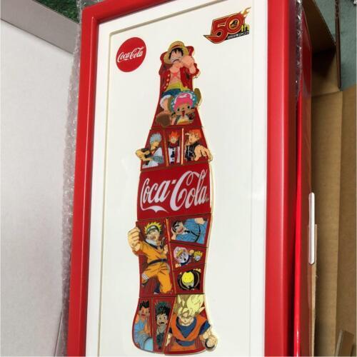 Shonen Jump 50th Anniversary 2018 Limited Coca Cola Puzzle Pins 12 Set Free-ship