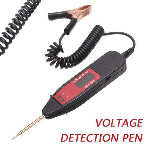 Car Digital LCD Electric 5-36V Voltage Test Pen Probe Detector Tester Light US