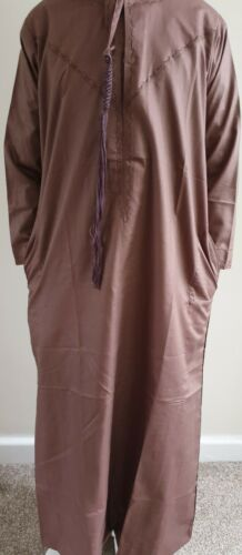 Size 30 to 48 Distasha Quality Boys Cotton Jubba Thrbe Brown Kandoora