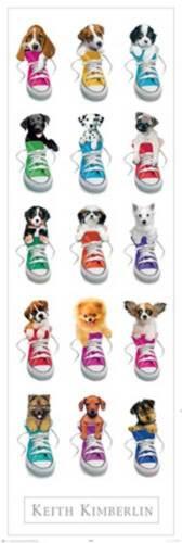Hunde Tür Poster Druck Keith Kimberlin Sneakers