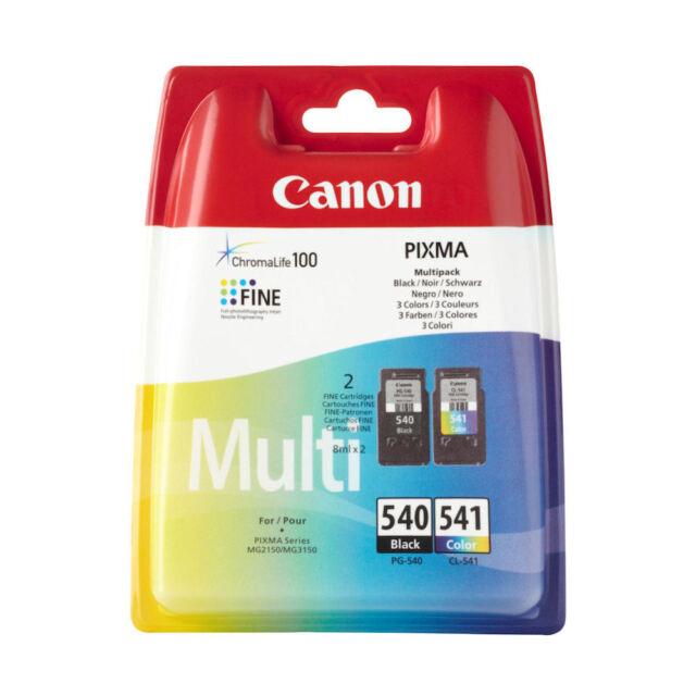 Canon PG540 Nero & CL541 Stampante a Colori Cartuccia Inchiostro per Pixma