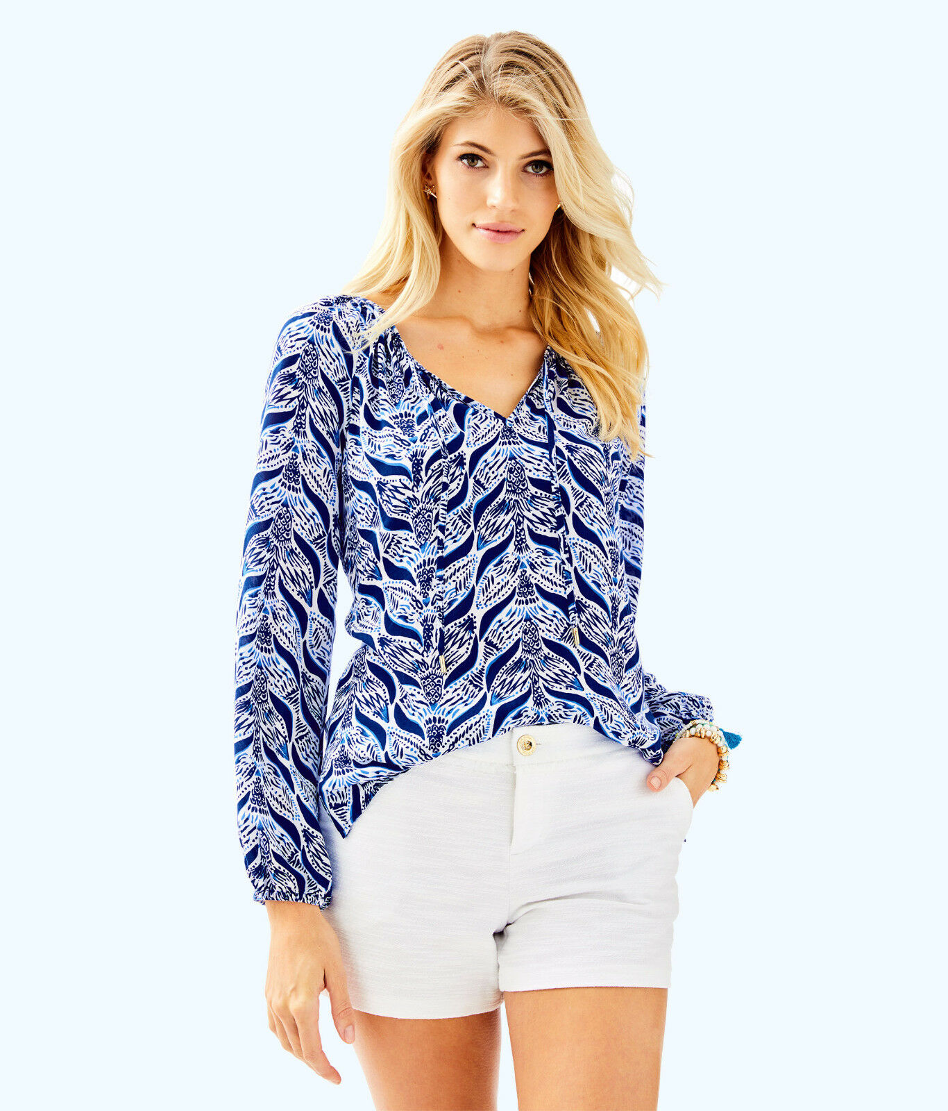 Lilly Pulitzer NWT Willa Tunic Blouse Resort Weiß A Mermaids Tail