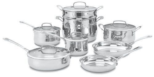 Cuisinart 44-13 SCF 13pc. Contour Inoxydable Cookware Set (4413)