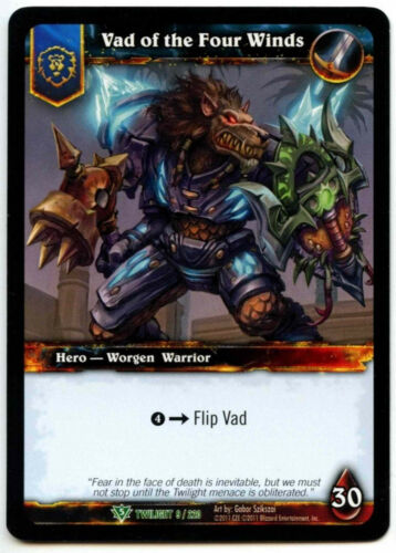 Vad Of The Four Winds #9 Warcraft Twilight Of The Dragon WoW TCG Card C312