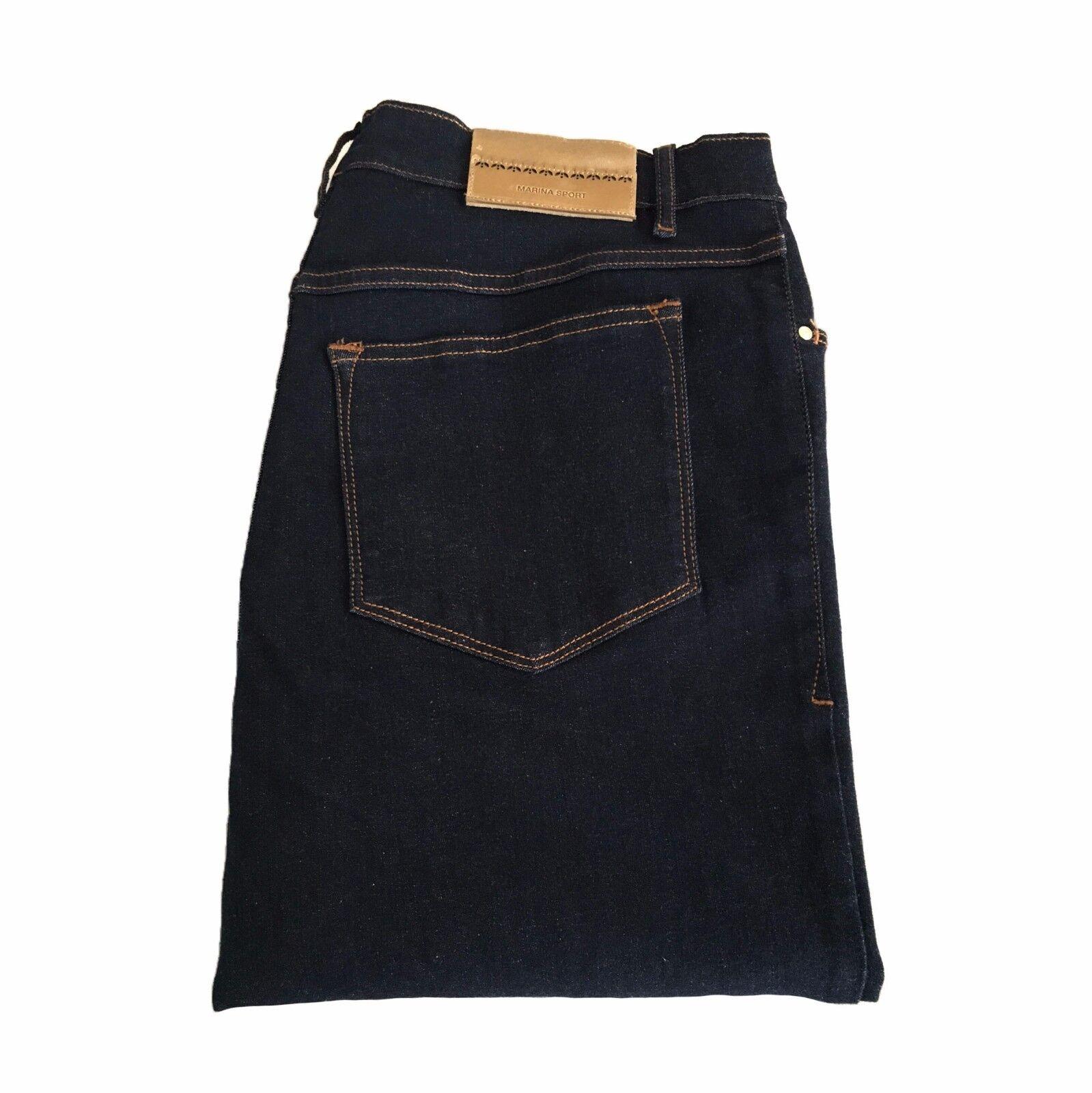 MARINA SPORT by Rinaldi women's jeans dark bluee slim mod goldENSEAL 92% cotton